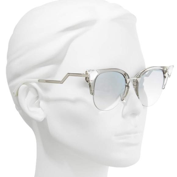 7b0471ae9af Fendi crystal cateye sunglasses